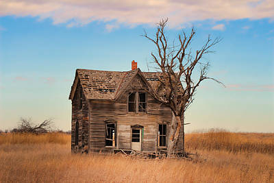 Abandoned House Photograph - Marquette Kansas by Chris Harris