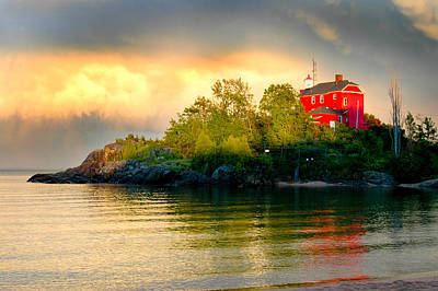 Marquette Lower Harbor Lighthouse Art Print by Brett Perucco