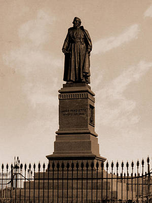 Marquette Drawing - Marquette Statue, Marquette, Jacques, 1637-1675 by Litz Collection
