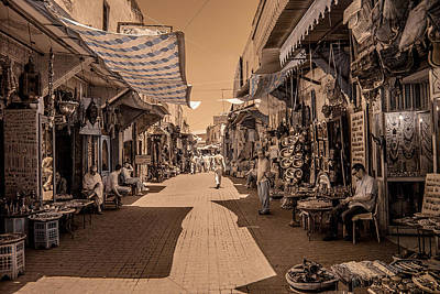 Photograph - Marrackech Souk At Noon by Ellie Perla