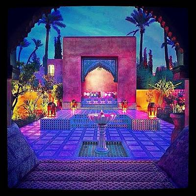 Background Photograph - Marrakech Morocco by Oscar Lopez