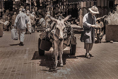 Photograph - Marrakech Sounk Donkey Cart by Ellie Perla