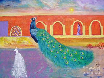 Art Print featuring the painting Marrakesh Dreams  by Donna Dixon