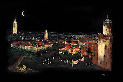 Marrakesh Painting - Marrakesh Midnight by Andrew Roy Thackeray