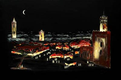 Marrakesh Painting - Marrakesh Midnight II by Andrew Roy Thackeray