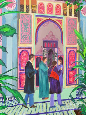 Marrakesh Painting - Marrakesh Palace by Kate Hennessy