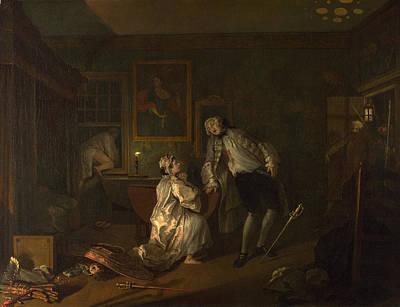 Marriage A-la-mode  The Bagnio Art Print by William Hogarth