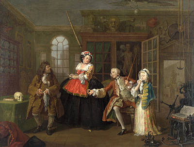 Mode Painting - Marriage A-la-mode  The Inspection by William Hogarth