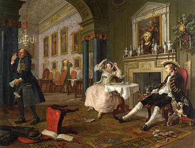 Mode Painting - Marriage A-la-mode  The Tete A Tete by William Hogarth