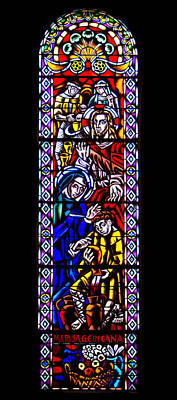 Photograph - Marriage In Cana Stained Glass by Jemmy Archer