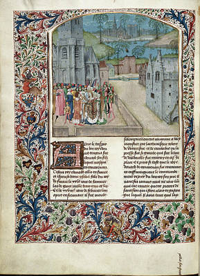 Marriage Of Edward II To Isabella Of Fran Art Print by British Library