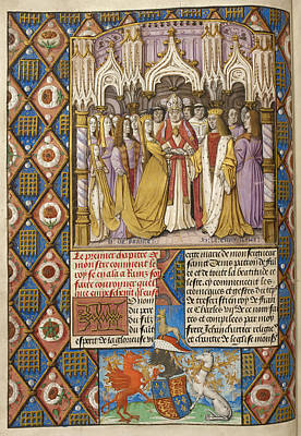 Marriage Of Henry V And Catharine Art Print by British Library