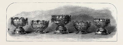 Marriage Of The Duke Of Connaught Silver Bowls Presented Art Print by English School
