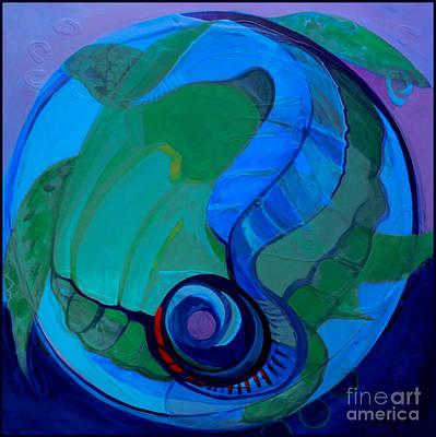 Marlene Burns Fine Art Painting - Marriage Of The Sea by Marlene Burns