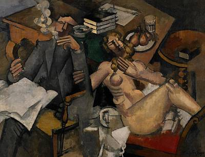 Married Painting - Married Life by Roger de la Fresnaye