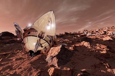 Astrogeology Photograph - Mars 3 Probe by Detlev Van Ravenswaay