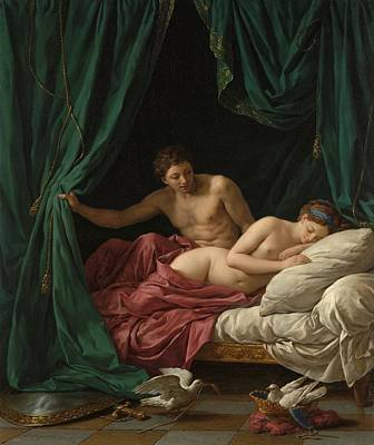 Painting - Mars And Venus An Allegory Of Peace by Louis Jean Francois Lagrenee