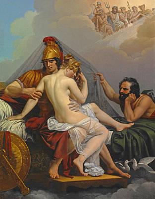 Vulcan Painting - Mars And Venus Surprised By Vulcan by Alexandre Charles Guillemot