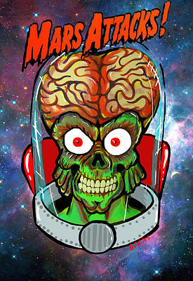 Painting - Mars Attacks by Gary Niles