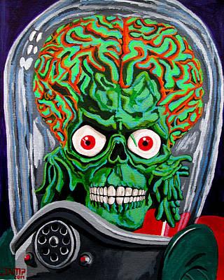 Tim Painting - Mars Attacks by Jose Mendez