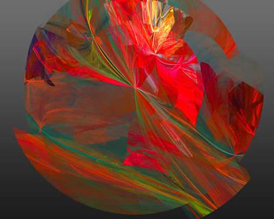 Bright Digital Art - Mars by Betsy Jones