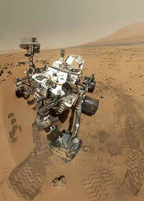 Self Portrait Photograph - Mars Curiosity Rover Self-portrait by Science Photo Library