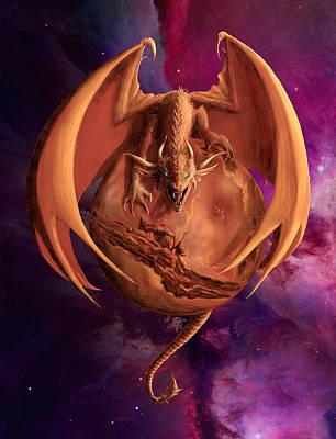 Digital Art - Mars Dragon by Rob Carlos