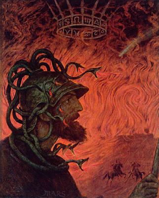 Medusa Painting - Mars by Hans Thoma