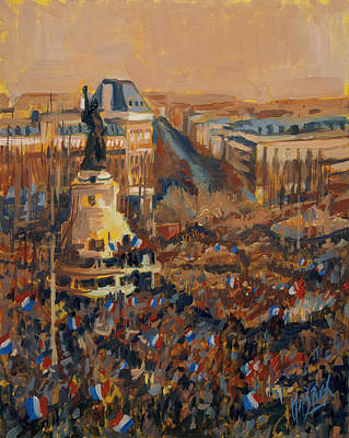 Painting - Mars Je Suis Charlie 11 Janvier 2015 by Nop Briex