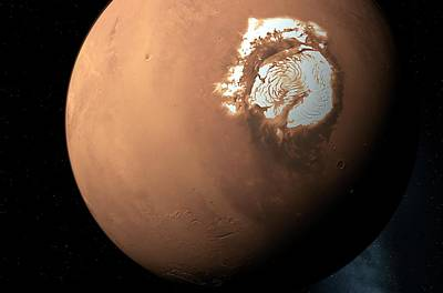 Mars North Pole Art Print