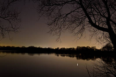 Astro Photograph - Mars Over The Lake by Chris Whittle