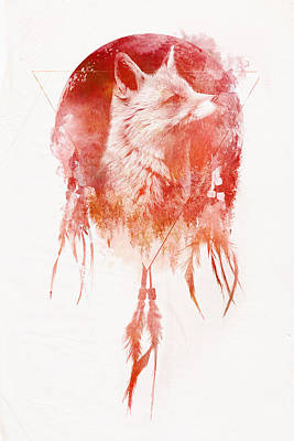 Red Fox Mixed Media - Mars by Robert Farkas