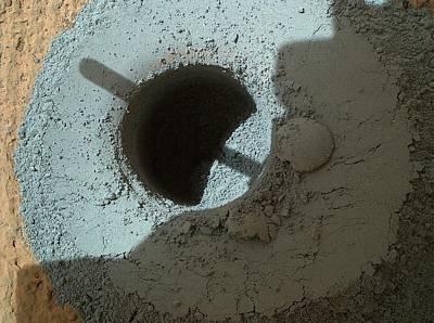 Mars Rock Drill Hole Art Print by Nasa/jpl-caltech/msss