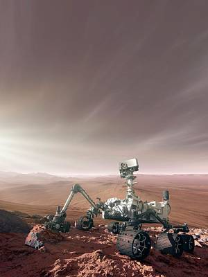 Astronomical Art Photograph - Mars Rover Curiosity by Detlev Van Ravenswaay