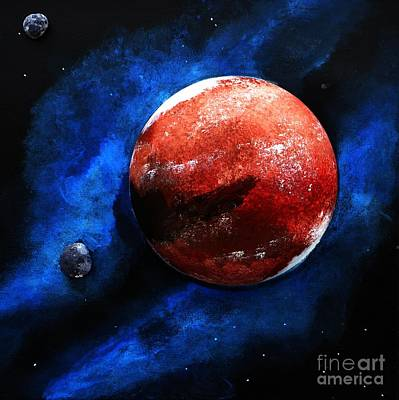 Mixed Media - Mars The Red Planet by P Dwain Morris