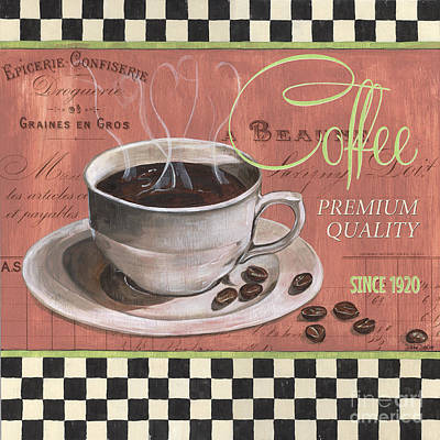 Bean Painting - Marsala Coffee 1 by Debbie DeWitt