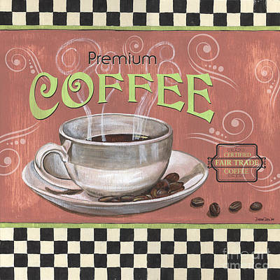 Bean Painting - Marsala Coffee 2 by Debbie DeWitt