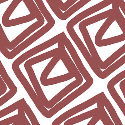 Royalty-Free and Rights-Managed Images - Marsala Envelopes- Abstract Pattern by Linda Woods