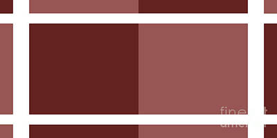 Digital Art - Marsala Minimalist Panorama 8 by Andee Design