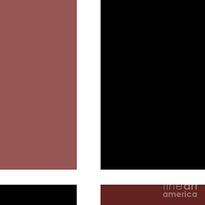Digital Art - Marsala Minimalist Square 5 by Andee Design
