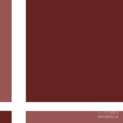 Digital Art - Marsala Minimalist Square 7 by Andee Design