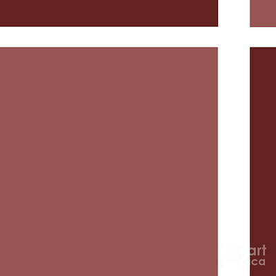 Digital Art - Marsala Minimalist Square 8 by Andee Design