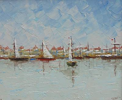 St.tropez Painting - Marseille South Of France by Frederic Payet