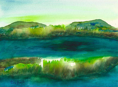 Marsh Abstract 3 By Frank Bright Art Print