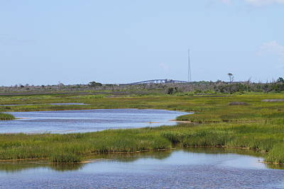 Outer Banks Photograph - Marsh At Bodie And Bridge by Cathy Lindsey