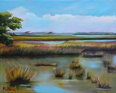 Marsh At Yellow Bluff Art Print by Karen Macek