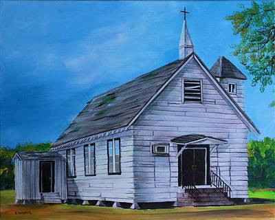Berea Wall Art - Painting - Marsh Berea Church Leflore County Ms by Karl Wagner