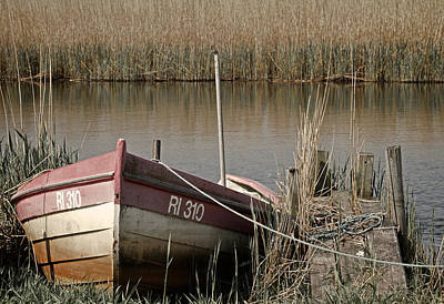 Marsh Boat Art Print