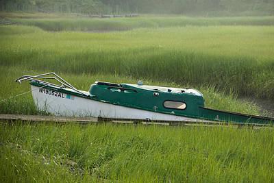 Marsh Boat Art Print by Steven Bateson