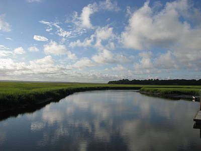 Photograph - Marsh Clouds by Ellen Meakin